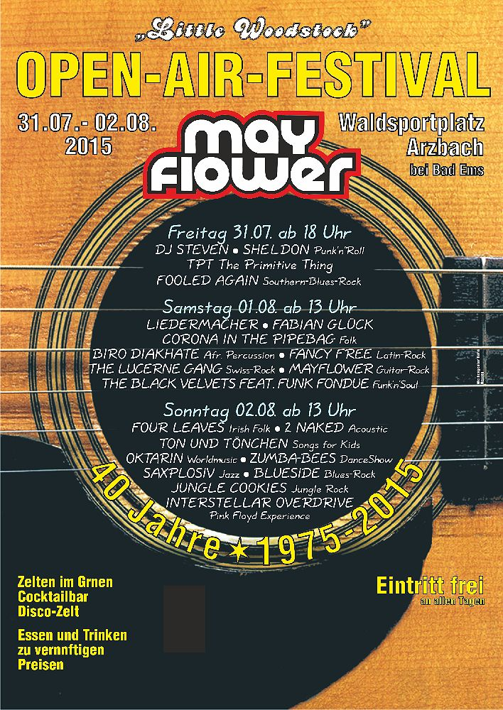 Mayflower Festival 2015 in Arzbach